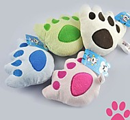 Cat / Dog Pet Toys Plush Toy Footprint Random Color Textile