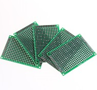 Double-sided 2.54mm Pitch PCB 4 x 6cm Protoboard - Green (5pcs)