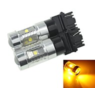 2x 3157 P27 W2.5X16Q  30W 6xCREE Yellow Red 2100LM  for Car Turn Signal Light (AC/DC12V-24)