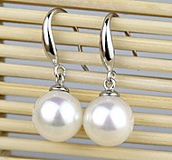 Natural pearl perfect circle earrings