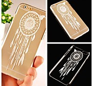 Butterfly Dreamcatcher Pattern Transparent Back Case for iPhone 6