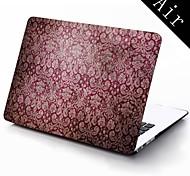 Vintage lila Blumen-Design Ganzkörper-Schutz-Kunststoffgehäuse für 11-Zoll / 13 Zoll neue Mac Book Luft