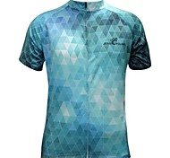 JESOCYCLING Cycling Jersey Men's Short Sleeve Bike Jersey Tops Quick Dry Breathable Polyester Plaid/Check Spring Summer Cycling/Bike
