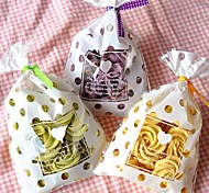 50pcs White Dot Cookie Bakery Candy Biscuit Jewelry Gift Bag