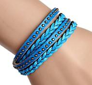 Bracelets de rive/Bracelets d'amitié/Bracelets Wrap/Vintage Bracelets/Bracelets en cuir (Alliage/Cuir) Soirée/Quotidien/Casual/Sports