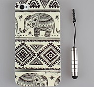 Beautiful Art design TPU Soft Shell and Capacitance Pen for iPhone 4/4S (Assorted Colors)