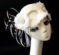 Princess White Flower Lace  Women's CarnivalMask