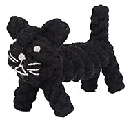 Dogs Toys Chew Toy Rope / Cat Textile Black