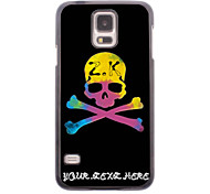 Personalized Phone Case - Unique Skull Design Metal Case for Samsung Galaxy S5 I9600