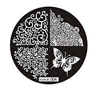 Nail Art Stempel Stamping Schablone Platte hehe Serie Nr.4