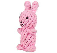 Rabbit Shape Rope Textile Chew Toys For Dog