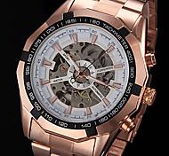 forsining® Männer automatische mechanische hohle Wahl Roségold Stahl-Band-Armbanduhr (farbig sortiert)