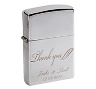 Personalized Engrave Silver Metal Oil Lighter - Thank You