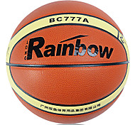 Rainbow Microfiber Leather Match Basketball With Gas Cylinders/Net/Needle