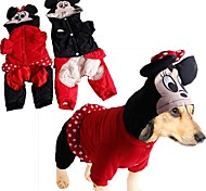 Dog Hoodie Red / Black Winter Animal / Cartoon Cosplay-Doglemi