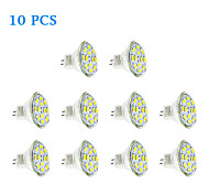 Faretti LED 12 SMD 5730 MR11 GU4(MR11) 6W 570 LM Bianco caldo / Luce fredda 10 pezzi DC 12 V