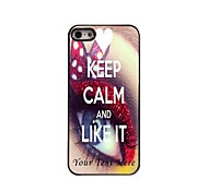 Personalized Phone Case - Keep Calm and Like it Design Metal Case for iPhone 5/5S
