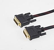 3m 9.84ft DVI (24 + 1) macho para cable de conexión de vídeo de ordenador DVI macho de alta calidad