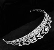 Luxury Classic Bride Rhinestone Leaf Crystal Bridal Hair Crown Bridal Hair Crown Tiara Wedding Jewelry Accessories