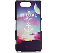 FITIN® I'm in Love Style Pattern Plastic Hard Case for Sony Xperia Z3mini