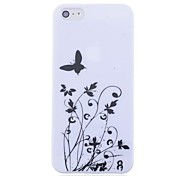 Lureme Fashion Gothic Black and White Butterfly Printing Pattern Hard Case for iPhone 5/5S