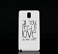All You Need is Love Pattern Hard Case for Samsung Galaxy  Note 3