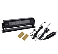 Cigarette Light Plug Black Multi-fonction Car Digital Clock with Thermometer and Automotive Voltmeter(12V)