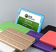 "Huawei Ehre s8-701u / w Tablet PC 8 ""Protective PU Ledertasche Seide Muster der rückseitigen Abdeckung 6 Farben"