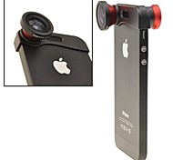 Apexel 180 ° pesce lente dell'occhio e obiettivo grandangolare add-on obiettivo macro kit 3-in-1 per iPhone 5 / 5s (colori assortiti)