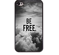 Be Free In The Sky Design  Aluminum Case for iPhone 4/4S
