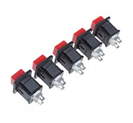No Lock Button Switch(5Pcs)