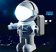 5W LED Astronaut USB Small Night Table Lamp 220V