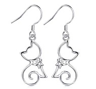 I FREE®Women's New Fashion S925 Sterling Silver Drop Earrings 1 pair