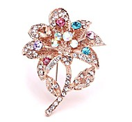 Colorful Bouquet of Lovely Diamond Brooch