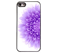 Half of The Purple Flower Design Aluminium Hard Case for iPhone 4/4S