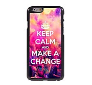 Keep Calm and Make A Change Design Aluminum Case for iPhone 6