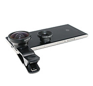 Universal Clip-On 3-in-one 0.67X Wide Angle and 0.4X Wide Angle and Macro Lens for Iphone / Samsung / HTC