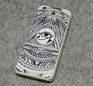Eye Style Painted Relief Plastic Hard Back Cover for iPhone 6 Plus