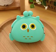 Owl Pattern Silicone Change Purse