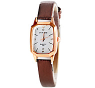 Women's Square Dial PU Band Quartz Wristwatch (Assorted Colors)