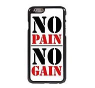 No Pain No Gain Design Aluminum Case for iPhone 6 Plus