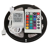 5m 300x3528 smd rgb led strip licht met 24key afstandsbediening (DC12V)