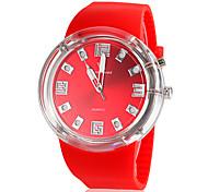piscando design desportivo relógio banda luz silicone de pulso de quartzo dos homens