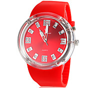 Men's Sporty Design Flashing Light Silicone Band Quartz Wrist Watch