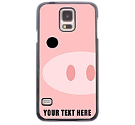 Personalized Phone Case - Pig Snout Design Metal Case for Samsung Galaxy S5 I9600