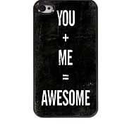 You + Me Design  Aluminum Case for iPhone 4/4S