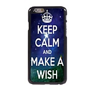 Keep Calm and Make A Wish Design Aluminum Case for iPhone 6