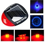 Luci bici , Luci di coda / luci della rotella / Luci bici - 3 Modo Lumens allarme / controluce CR2032 Solare / Batteria