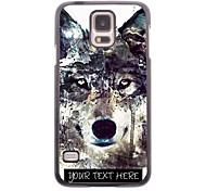 Personalized Phone Case - Iceberg Wolf Design Metal Case for Samsung Galaxy S5 I9600