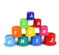 10-in-1 alfabeto inglese pile tazze set